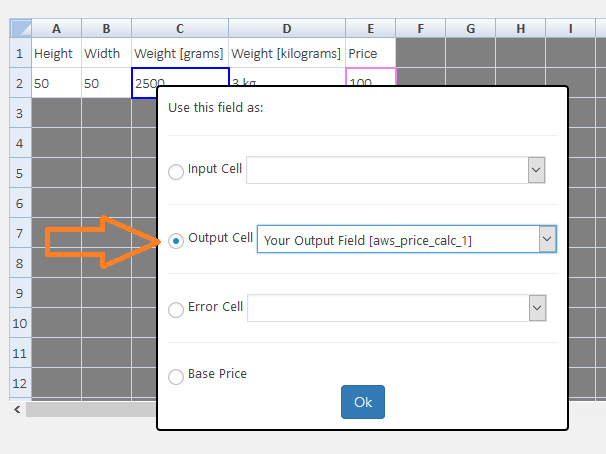 Mapping Output Field in Calculator